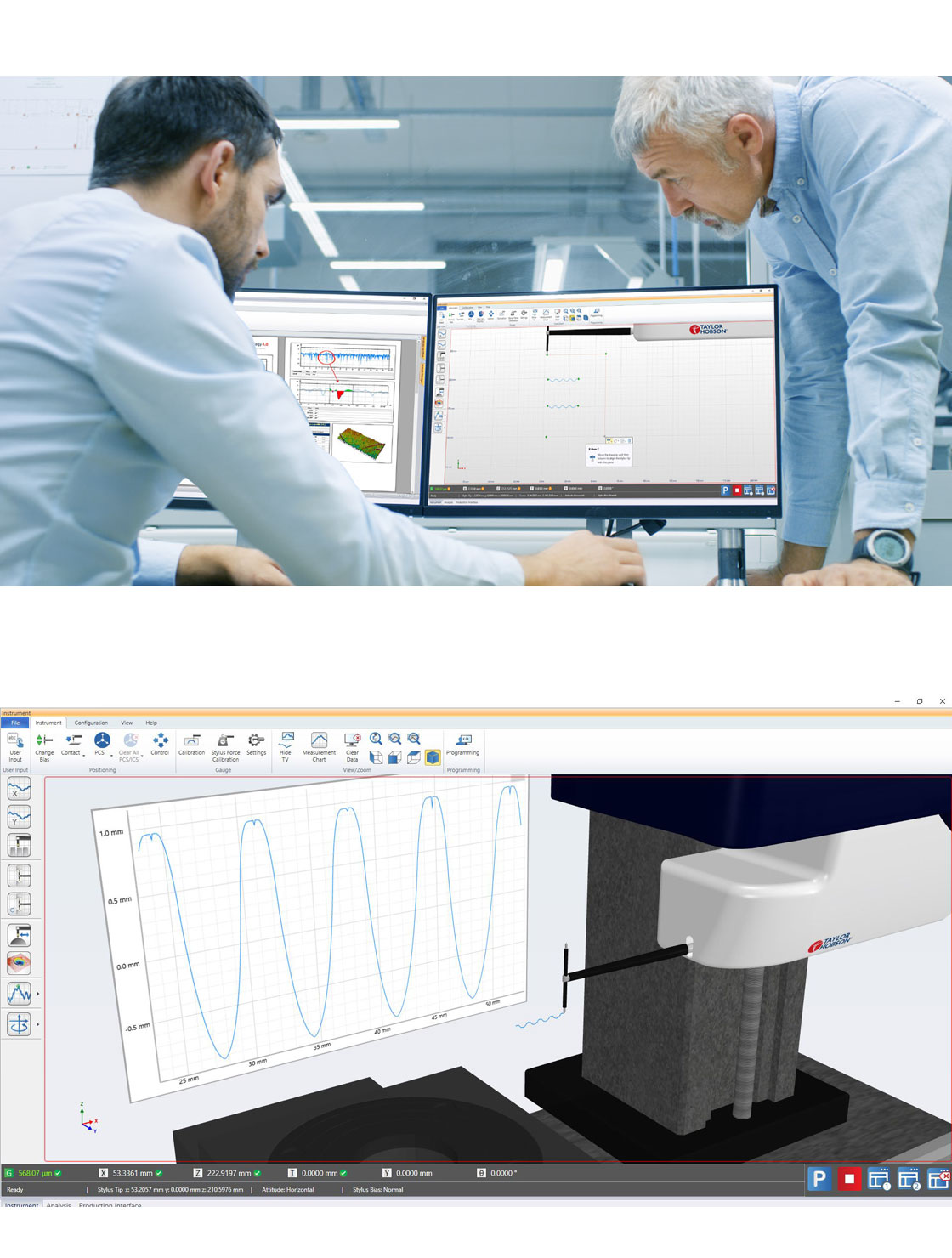 Powerful, fast diameter, angle, surface, Contour inspection/measurement instrument